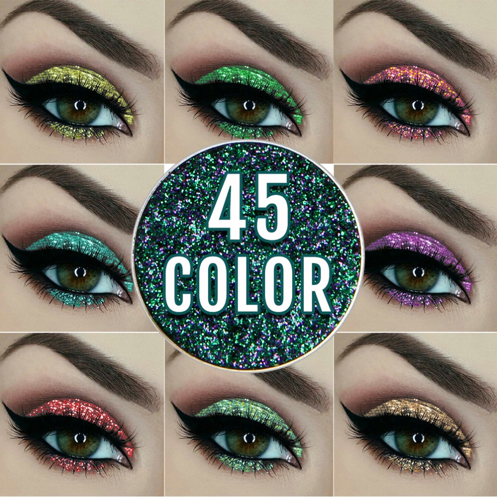 NICEFACE 45 Color Eye shadow diamond gold glitter Professions