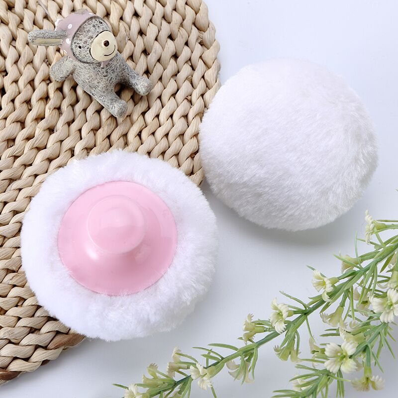 85 25MM Professional Baby Cosmetic Villus Powder Puff Talcum Powder Makeup Cosmetic Cotton Plush Sponges in Cosmetic Puff from Beauty Health