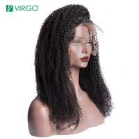 Kinky Curly Wig For Black Women Lace Front Human Hair Wigs Pre Plucked With Baby Hair Malaysian Wig 130% 180% Density Remy 13X4