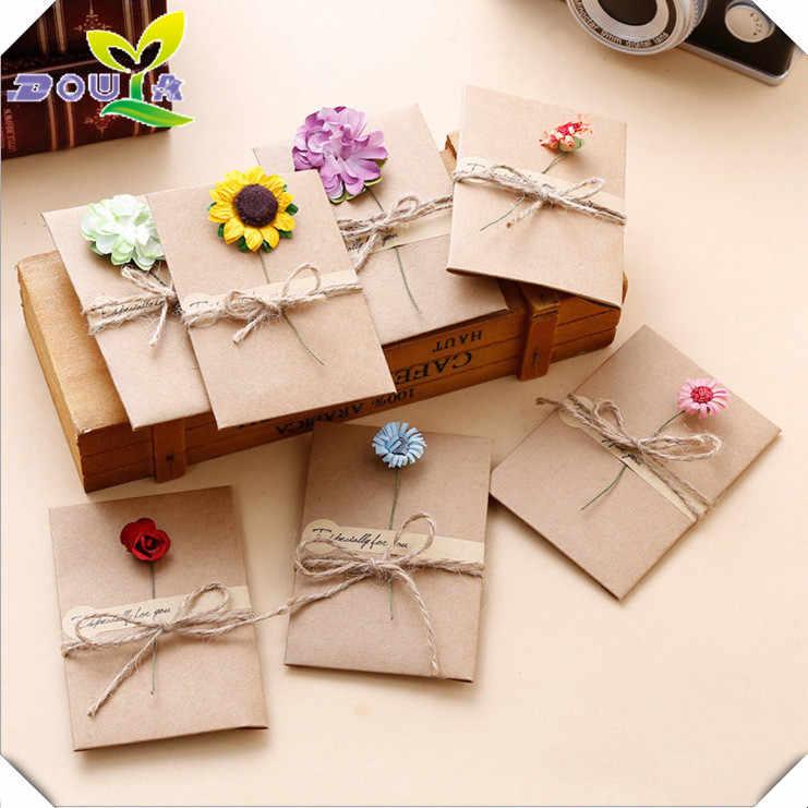 diy retro handmade creative greeting cards envelopes dry