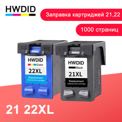 HWDID 21 22 Refill Ink Cartridge Replacement for HP/hp21 for HP/hp 21 xl for Deskjet F2180 F2200 F2280 F4180 F300 F380 380 D2300