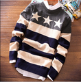Cashmere Sweater Men Brand Clothing Autumn Thin Pull Homme Full Sleeve O-Neck Knitted Wool Pullover Men Striped Sweaters