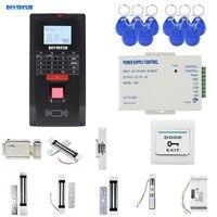 DIYSECUR отпечаток пальца TCP/IP ID Card Reader клавиатуры двери управление доступом комплект + Магнитный замок кнопка выхода