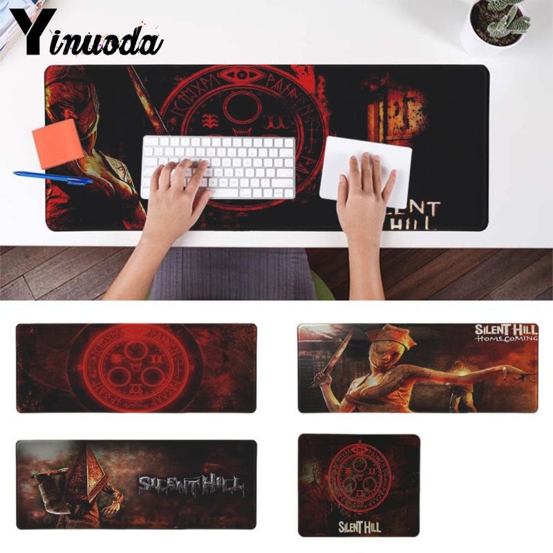 Yinuoda New Arrivals silent hill Rubber PC Computer game Gaming mouse pad Durable Soft Rubber gamer play mat Anti-slip desk mat image
