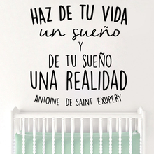 Cartoon Spanish Quotes Vinyl Wall Stickers For Babys Rooms Decoration Accessories Murals  Bedroom Decals adesivi murali