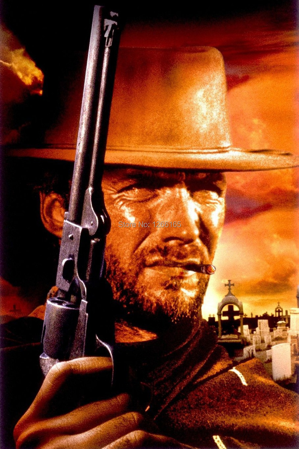A FISTFUL OF DOLLARS Movie Poster Spaghetti Western (1964