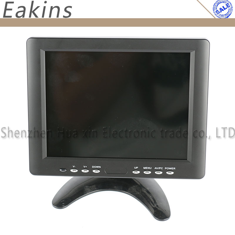 Portable 8 inch Wide Screen LCD Color Monitor Screen Display HDMI VGA BNC AV Output With Stand Holder For Microscope Camera white 8 inch open frame industrial monitor metal monitor with vga av bnc hdmi monitor