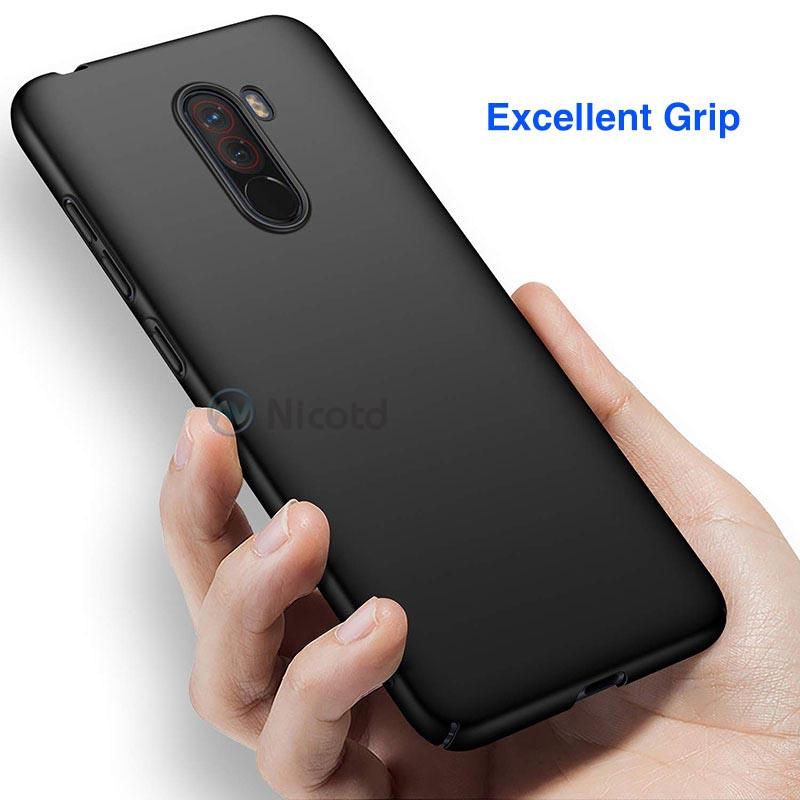 Ultra Slim Matte Case For Xiaomi Pocophone F1 Shockproof Back Cover Luxury Plastic Phone Xiomi poco hard cases