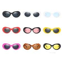 9db4ff36c 2019 الساخن نظارات شمسية النساء الرجل الأزياء الذكور البيضاوي نظارات أسعار  الجملة أسود أبيض النظارات الشمسية