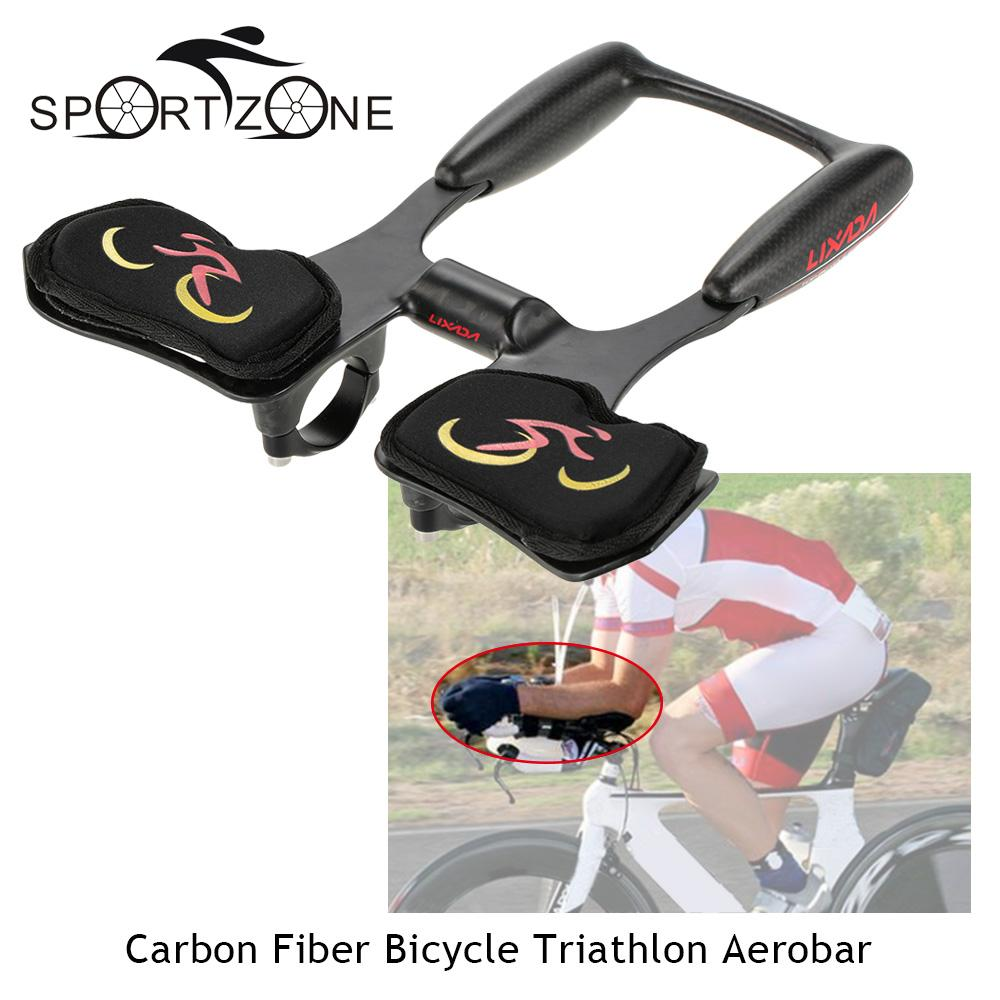 00064fa7c07 Lixada Carbon Fiber Bicycle Handlebars Aerobar 25 * 22.5 * 6cm Bike Road  Triathlon Arm Rest Handlebars Racing Aero Bar -in Bicycle Handlebar from  Sports ...