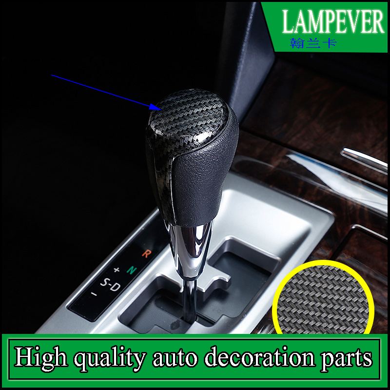 Car styling gear lever head decoration For Toyota Camry 2012 - 2017 Gear shift lever head cover trim sequins auto accessories