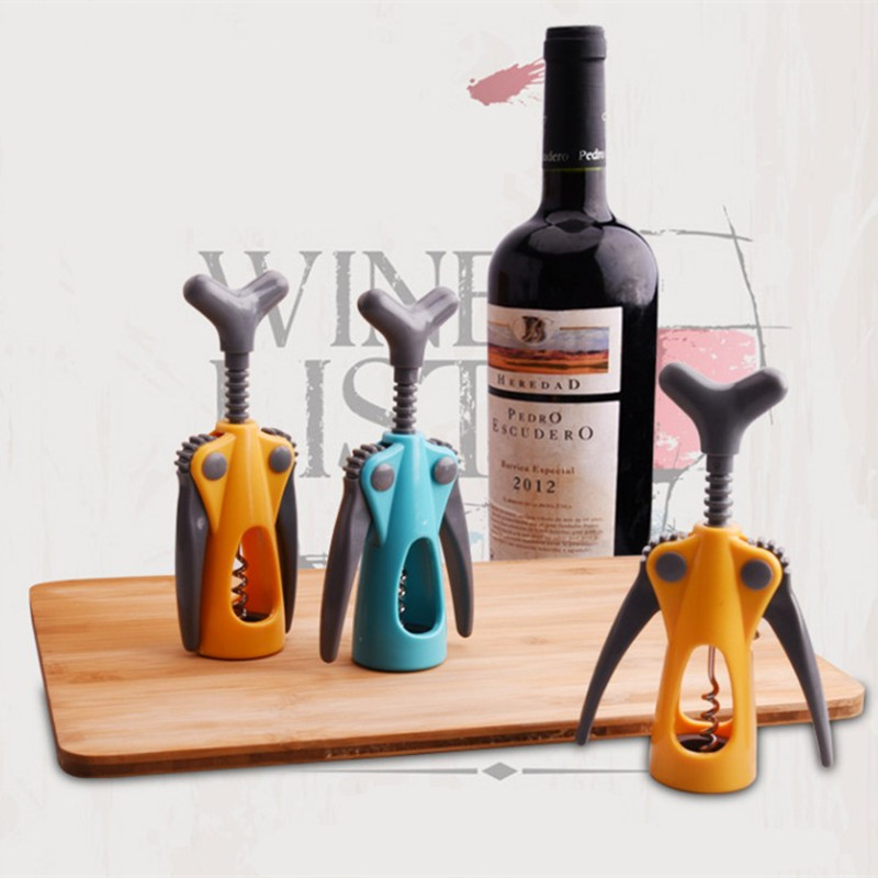 ABS+Stainless Steel Red Wine Bottle Opener Kitchen Accessories Beer Soda Cap Red Wine Bottle Opener Bar Supplies Kitchen Tool