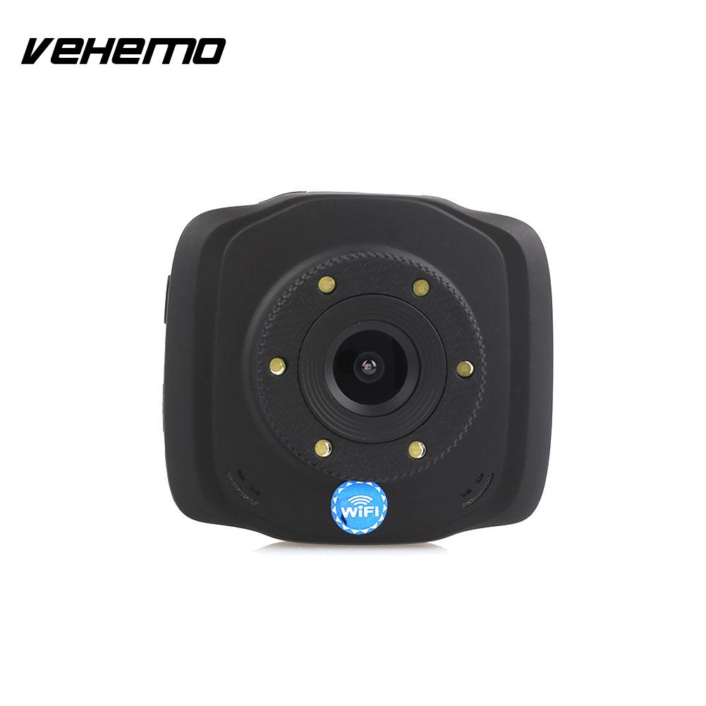 VEHEMO 2.4 Inch 140 Degrees WIFI Motion Detection Car DVR Driving Recorder Auto On/Off Dash Cam Loop Recording Car Camera