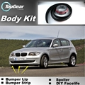 Bumper Lip Lips For BMW 1 M1 E81 E82 E87 E88 F20 F21 / Top Gear Shop Spoiler For Car Tuning / TOPGEAR Recommend Body Kit + Strip