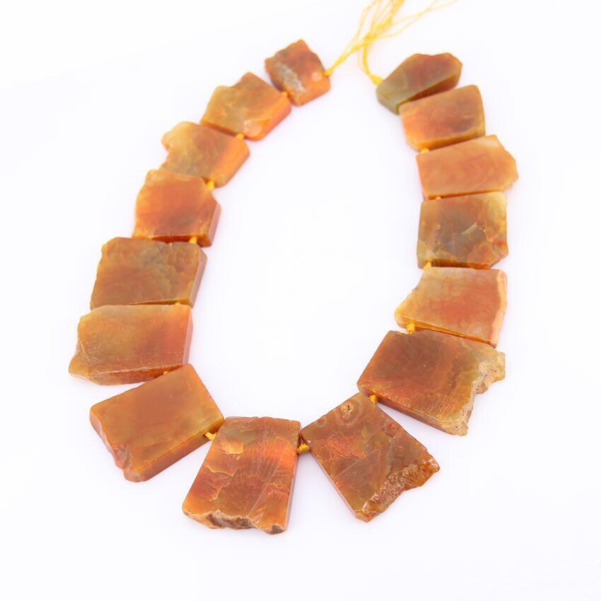 Большие плиты квадратный оранжевый Дракон вен купля окончил свободные Бусины Подвески strand, полированная Натуральный камень трапециевидна...