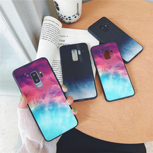 Tempered Glass Cases For Huawei P20 P30 Mate 20 Pro Gradient Color Protective for Honor 8X 10 V10 Colorful Cover