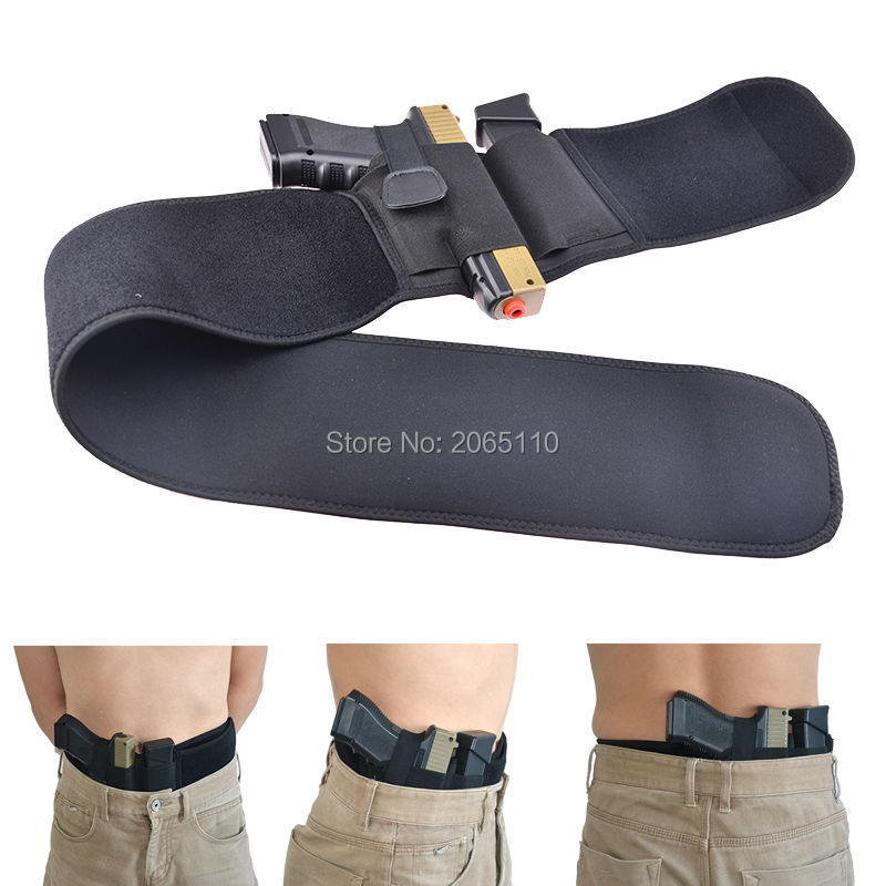 Tactical Unisex Left Right Hand Belly Band Holster Gun Pistol Holsters For Concealed Carry Fit All Pistols Size