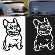 Bostar yeni güçlü yapıştırıcı 3d çıkartmaları fransız Bulldog köpek araba Sticker vinil araba çıkartması özel pencere kapı duvar Sticker