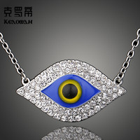 2017 new fashion personality women eye necklace unique style blue eye necklace for women gift  jewelry free shipping D00525