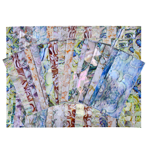 Image 3 - 16 قطعة حجر رخامي ملون لامع ملصقات على شكل صخور للأظافر ملصقات على شكل رقائق صمغية نقل رائع للتقليم تزيين الأظافر TR492