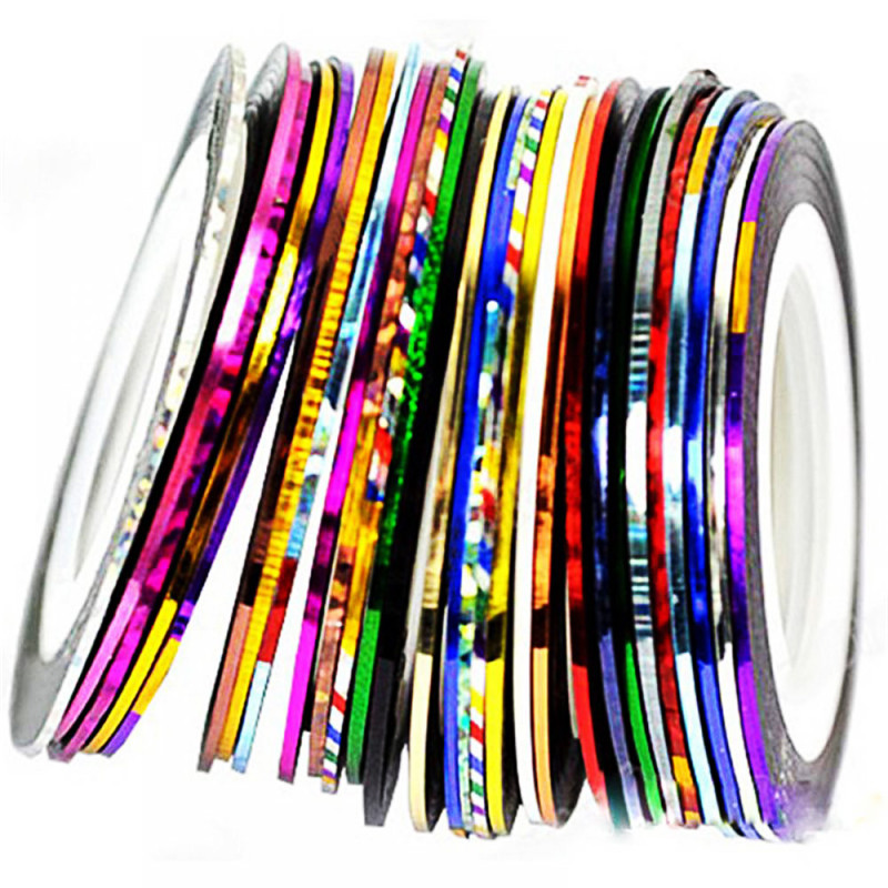 New 10X Color Rolls Striping Tape Line Nail Art Sticker Nail DIY Kit Nail Art UV Gel Tip Home Girl Supply