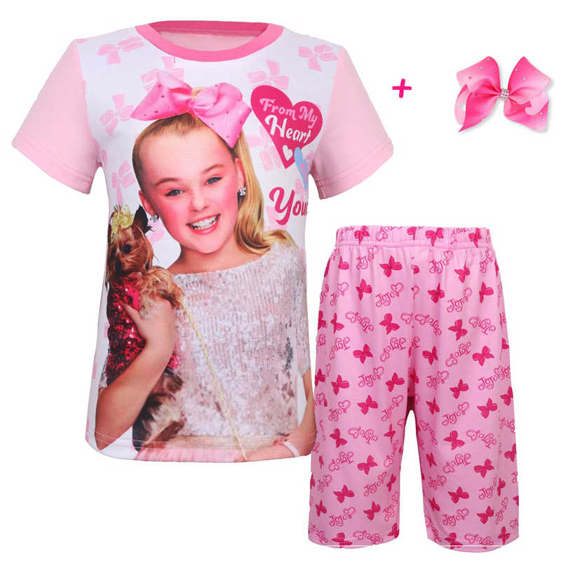 a5d88224db 2019 Summer children clothing girl T shirts + pants JOJO SIWA sets moana  fashion baby sport suit Baby Girls tracksuit chothes