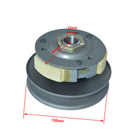 Motorcycle Belt Pulley Driven Wheel Clutch Assembly Cover Component for Honda WH100 GCC100 SCR100 SPACY100 Spare Parts