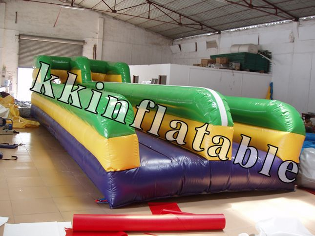 colorful inflatable bungee run sport games inflatable runway  цены