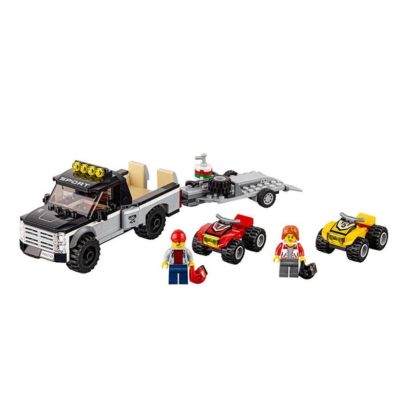 Gifts 60148 Pogo Bela 10649 Urban City Vehicles ATV Race Building Blocks Bricks Compatible legoe Toys Gifts for Children Model woma engineering architecture education model urban engineering vehicles building blocks children toys compatible with legoe