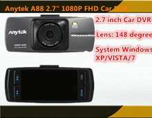 Free shipping Anytek A88 2.7″ 1080P FHD Car DVR Driving Recorder Dash Camcorder G-sensor Vehicle Camera