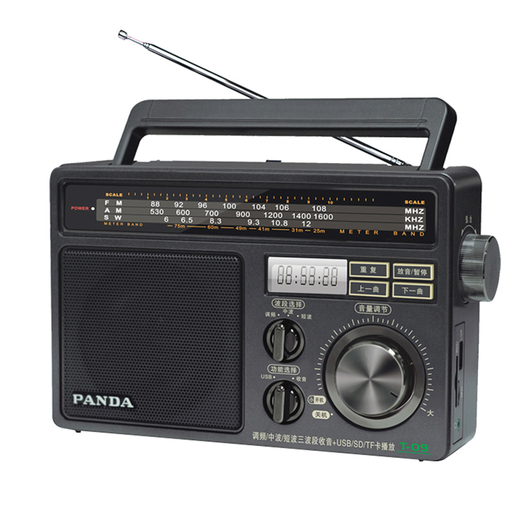 Klug Panda T-09 U Disk/tf Card Player Fm/medium Welle/kurzwelligen Drei-band Radio Radio Tragbares Audio & Video