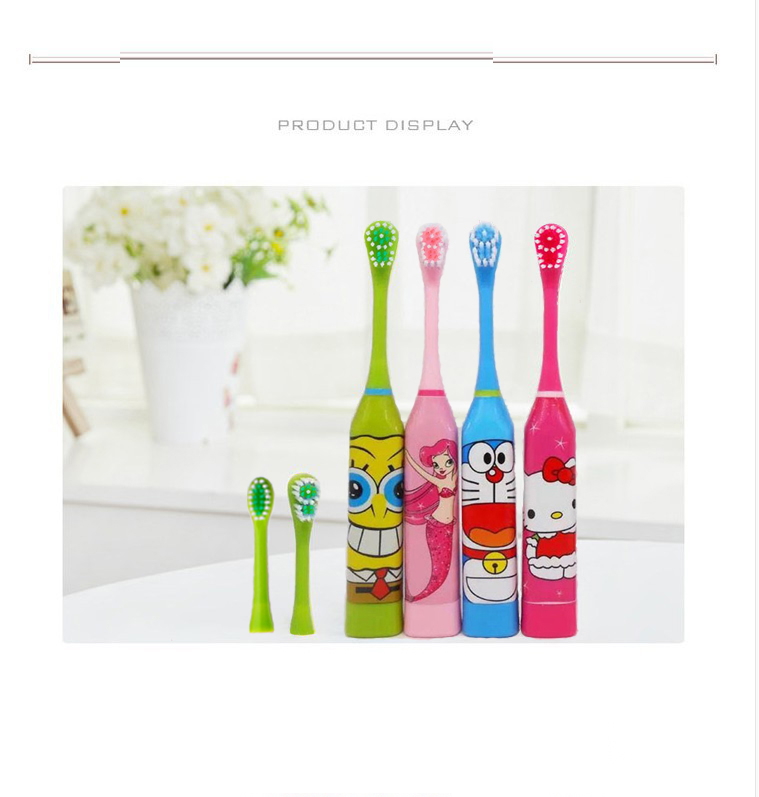 free shipping Electric toothbrush cartoon child ultrasound household vibrating toothbrush Cartoon children electric toothbrush. image