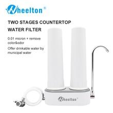 ФОТО wheelton countertop water filter faucet(h-224) ultrafiltration&ceramic decrease contaminants&virus&bacteria purifier for kitchen