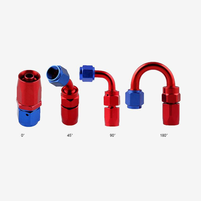 1 10AN AN10 90 Degree Swivel Oil//Fuel//Gas Line Hose End Fitting Adapter One BLACK//RED