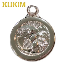 Xukim Jewelry Trendy Wedding Gifts Cubic Zirconia Silver Color Huia Birds Couples Lovers Coin Pendant Necklace