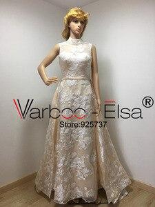 Image 4 - Real Photos Luxury Sequined Lace Evening Dresses Halter Hand Pleated Custom Made Vestido De Festa 2018 from Yousef Aljasmi