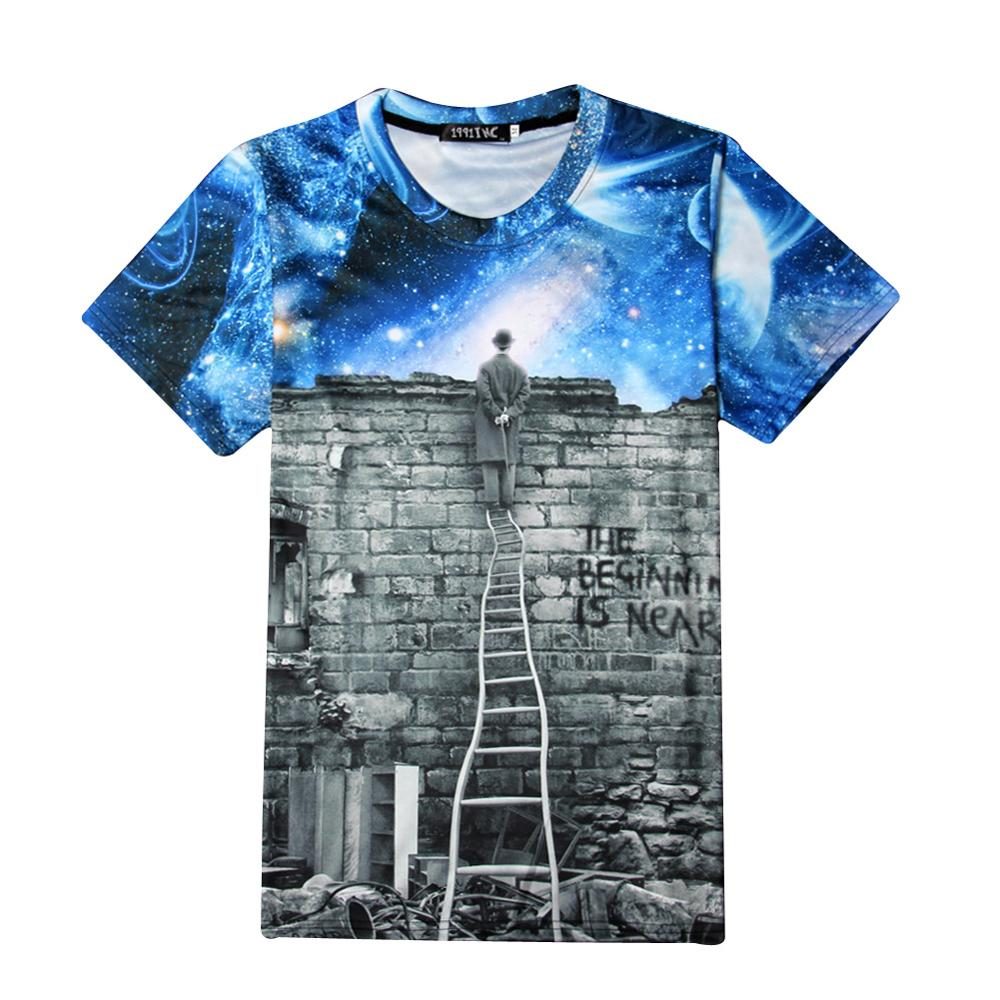 B9005 2017 Galaxy Space T-Shirt For Men/Women Print The Magician To Watch Night Sky 3D T shirt Casual Unisex T shirts Harajuku