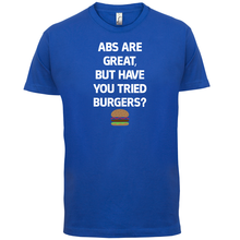 Abs Are Great, Burgers - Mens T-Shirt Funny / Diet Healthy Print T Shirt Short Sleeve Hot Tops Tshirt Homme