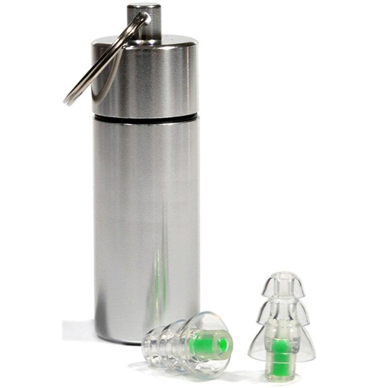 Nuevo diseño de alta fidelidad silicona músico filtro tapones para los oídos de reducción de ruido oído/protección auditiva motocicleta batería tapones