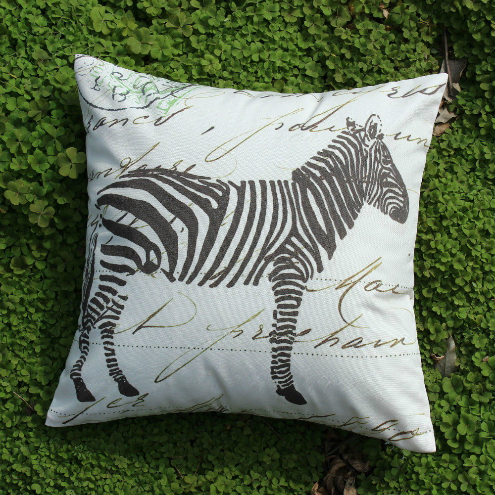 VEZO HOME printed zebra sofa cushions throw pillows case ...