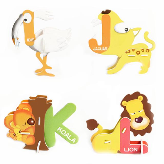 DIY Assembling Animal Paper 3D Puzzles