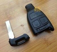 3 Knoppen Smart Remote Key Shell Case Voor Fiat Croma Met Nood Sleutelblad