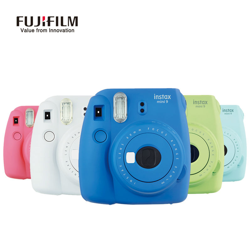 Fujifilm Instax Mini 8 Updated Version Camara Instantanea Mini 9 Film Instant Camera Close-up Shots Selfie Pink Green White Blue fujifilm instax mini 8 black