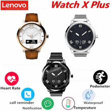 Lenovo Watch X Plus Smartwatch Milanese Strap 45 Days Standby Time 80M Waterproof Heart Rate Sleep Monitor Smart Watch(China)