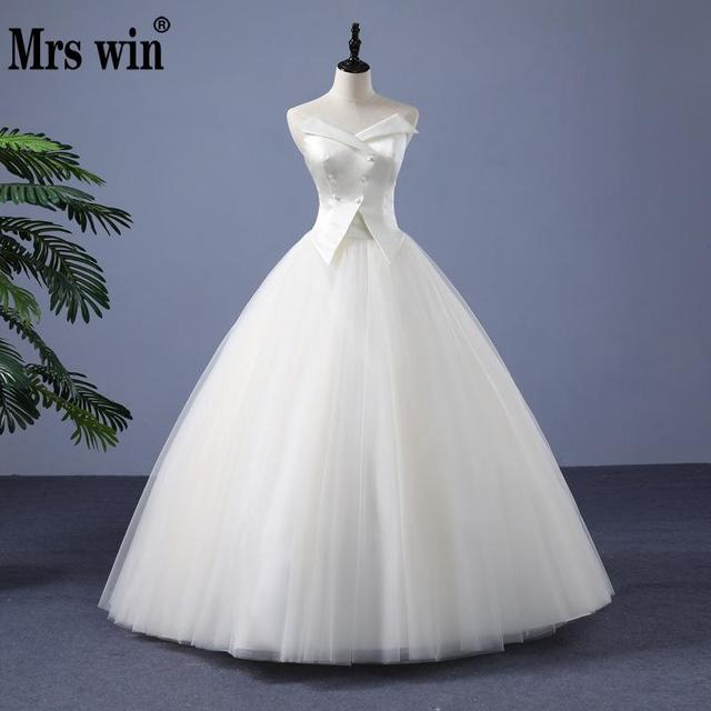 Strapless Wedding Dress 2018 The Classic Ball Gown Real Photo Simple ...
