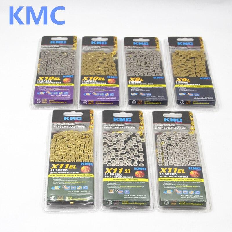 KMC Z99/X9/X9SL/X10/X10SL/X11/X11SL Chaîne, 116 liens, 6/7/8/9/10/11 vitesse, argent/Gris/Or pour vtt vélo de route vélo chaîne
