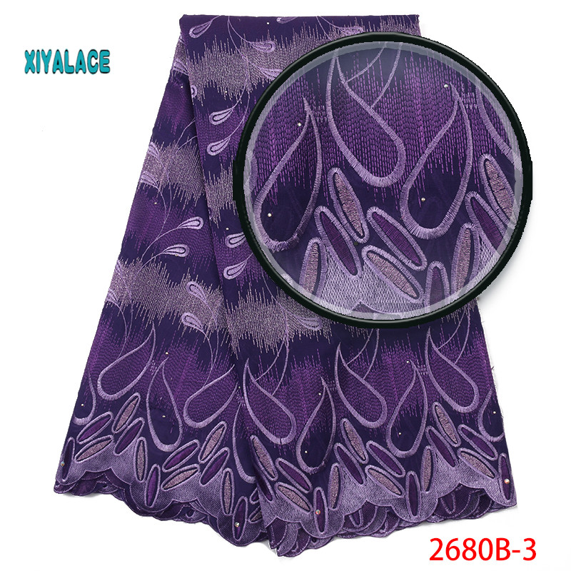 Swiss Voile Lace Fabric 2019 High Quality Lace Best Selling African Dresses For Wedding Lace Cotton Lace Party Dress YA2680B-3