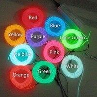 Десять шт 3,2 мм 15 м различных colorFlexible el провода Неоновый свет и 100 240VAC инвертора для праздника, вечерние, фестиваль украшения