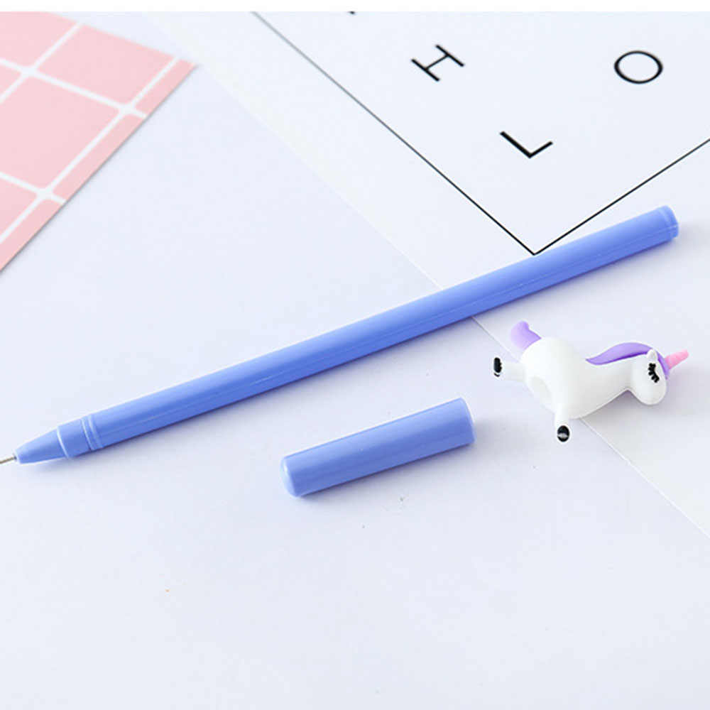 1 Pcs เกาหลีเครื่องเขียนน่ารัก Kawaii 3D Unicorn Horse Angel เจลปากกาสำนักงานโรงเรียน Supply นวนิยายสร้างสรรค์ของขวัญจับ