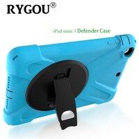 RYGOU For Apple Ipad Mini 3 Case Amor Defender Heavy Duty Drop Resistance Shock Proof Tablet